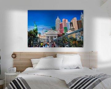Skyline las vegas New York van Yannick uit den Boogaard