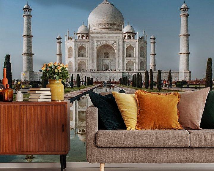 Sfeerimpressie behang: Taj Mahal van Marscha van Druuten