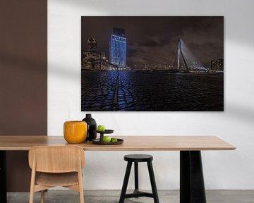 Rotterdam Wilhelminakade Erasmus-Brücke von Klaas Doting