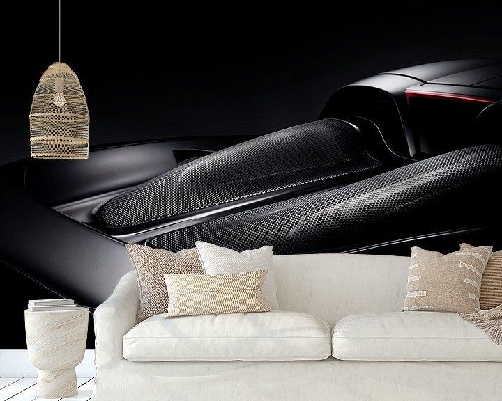 Sfeerimpressie behang: 2005 Porsche Carrera GT van Thomas Boudewijn