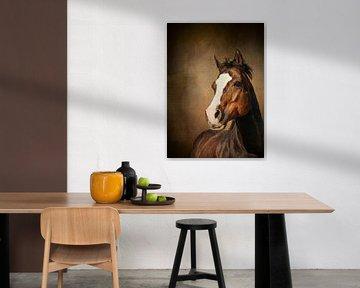 Braunes Pferd von Diana van Tankeren