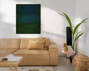 Abstrakt in tiefen Grüntönen von Rietje Bulthuis
