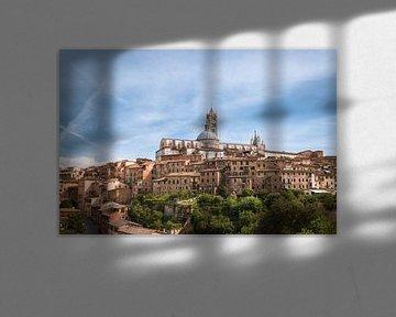 Skyline von Siena, Italien von Jelmer Laernoes