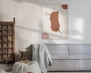 Ruhe - Abstrakte Formen in warmen Farben von MDRN HOME