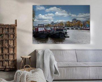 Blick auf die Magere Brücke in Amsterdam von Foto Amsterdam / Peter Bartelings