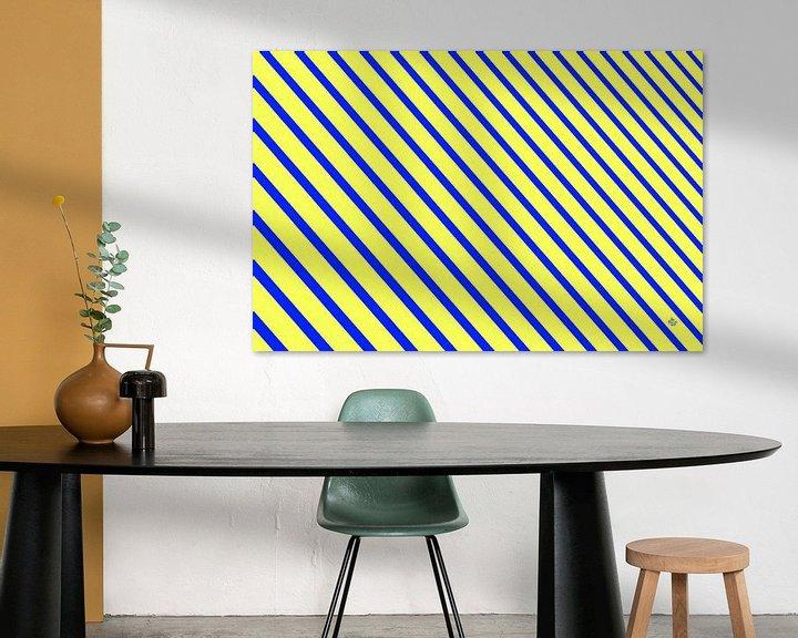 Sfeerimpressie: Geometric composition #11 van Jan Everink