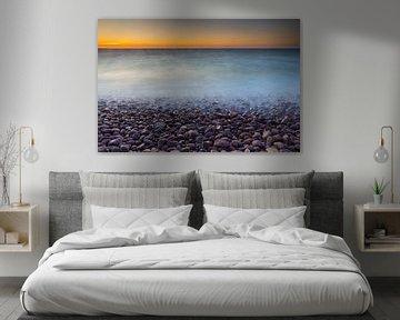Kei strand bij zonsondergang van Marcel Kerkhof