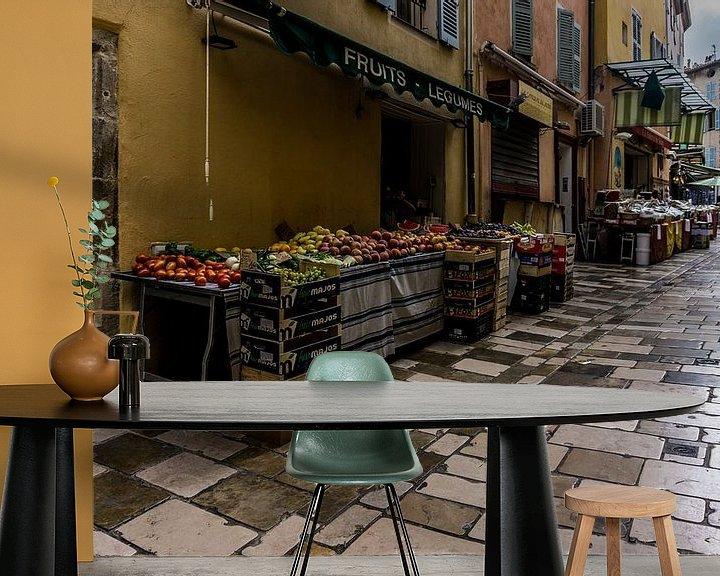 Sfeerimpressie behang: streetshops van Andre Klooster