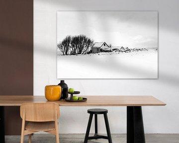 Ein während des Winters verlassenes Haus in Island von By SK Photography