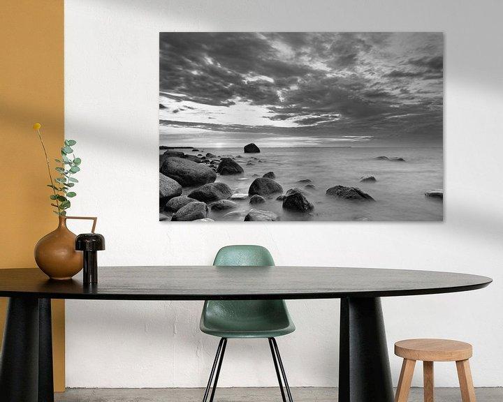 Beispiel: Sonnenuntergang am Steinstrand von Ralf Lehmann