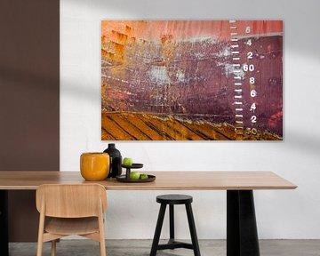 Scheepsromp in rood en bruin van Frans Blok