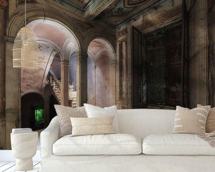 Beispiel fototapete: Treppenhaus in einer verlassenen Villa von Maikel Brands