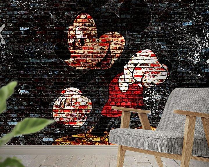 Beispiel fototapete: Mickey Graffiti von Rene Ladenius Digital Art
