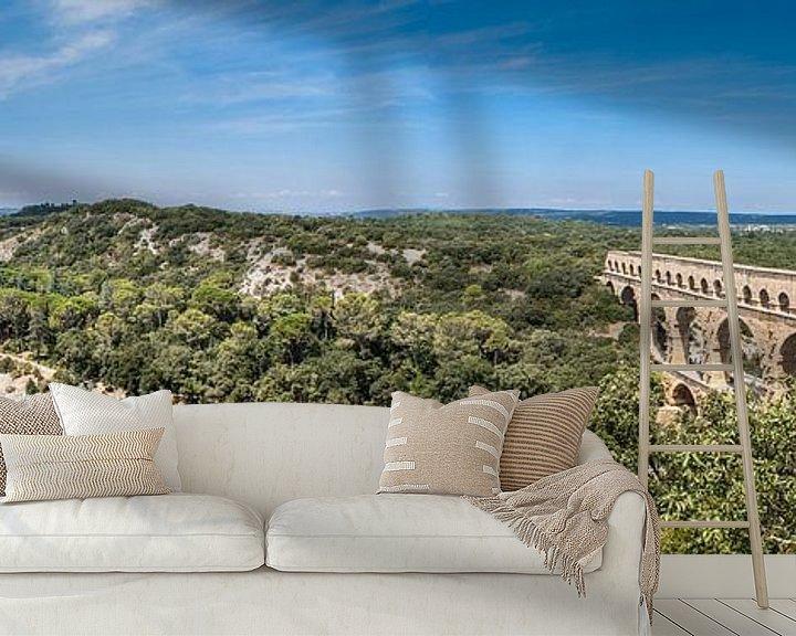 Sfeerimpressie behang: Panorama Pont du Gard van BTF Fotografie