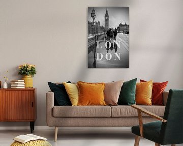 Städte im Regen: London II von Christian Müringer