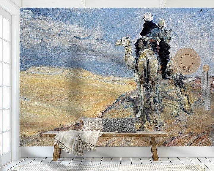 Beispiel fototapete: Sandsturm in der libyschen Wüste - Max Slevogt, 1914 von Atelier Liesjes