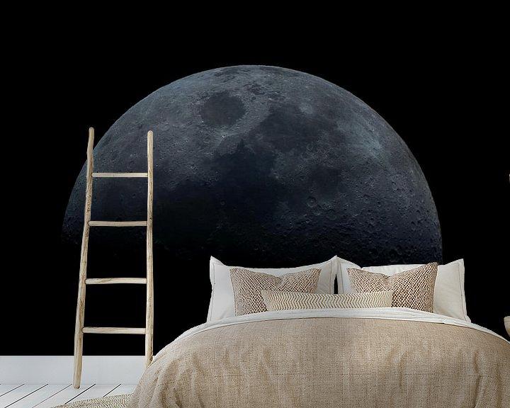 Sfeerimpressie behang: wassende maan van Joran Keij