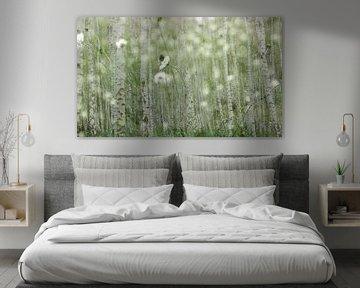 Birken - Verarbeitung weißer Blumen von Henriette Tischler van Sleen