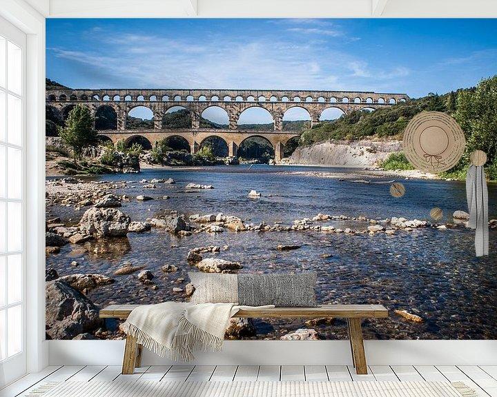 Sfeerimpressie behang: Pont du Gard van BTF Fotografie
