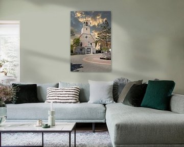Kerkje de Koog Texel van Fred Knip