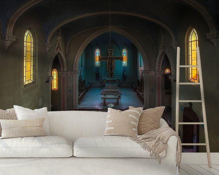 Beispiel fototapete: Verlassene Kapelle von Maikel Brands