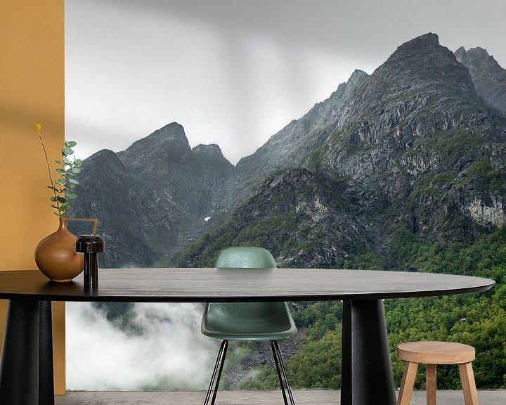 Sfeerimpressie behang: Landschap in Noorwegen van Karijn | Fine art Natuur en Reis Fotografie