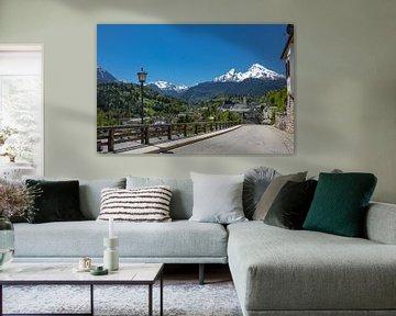 Berchtesgaden met Watzmann van Sabine Wagner