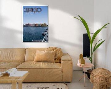 Vieille affiche, Handelskade, Willemstad Curacao sur Discover Dutch Nature
