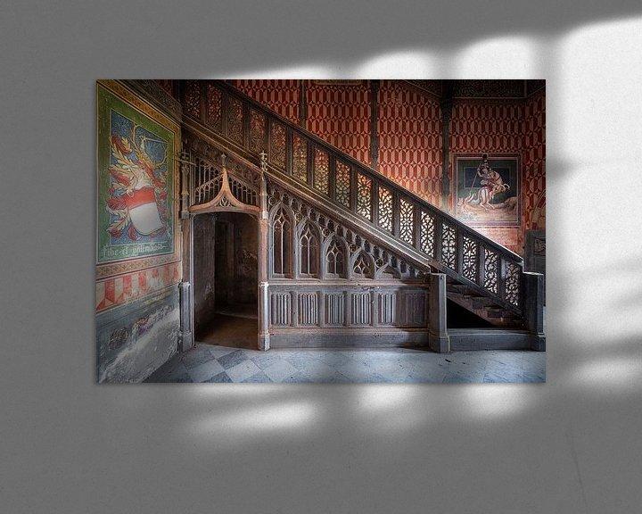 Beispiel: Verlassenes Treppenhaus mit Art. von Roman Robroek