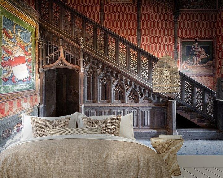 Beispiel fototapete: Verlassenes Treppenhaus mit Art. von Roman Robroek