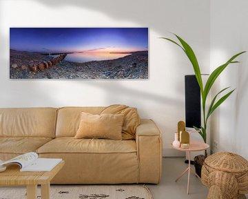 Panorama am Meeresstrand