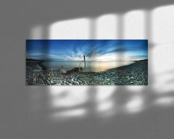 Sfeerimpressie: s Avonds op het strand van Rügen van Frank Herrmann