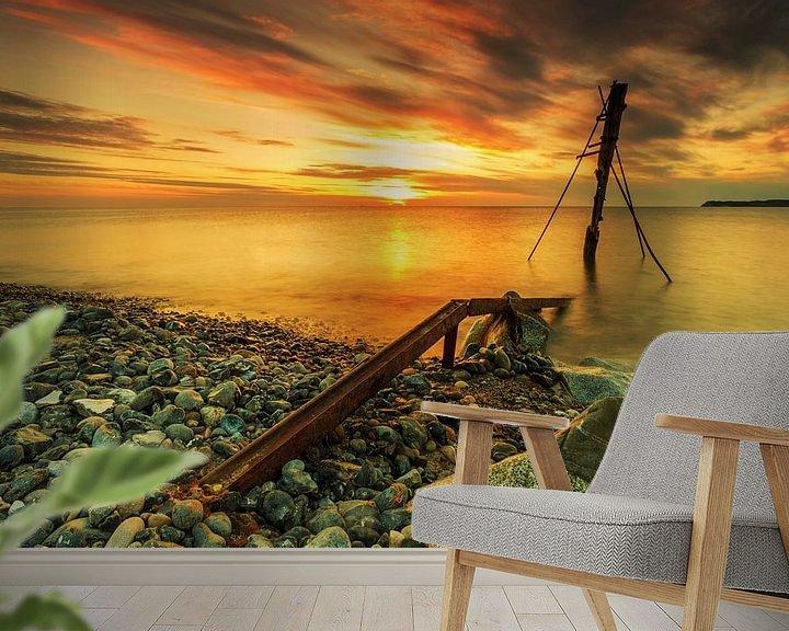 Impression: Coucher de soleil sur la plage de Rügen sur Frank Herrmann