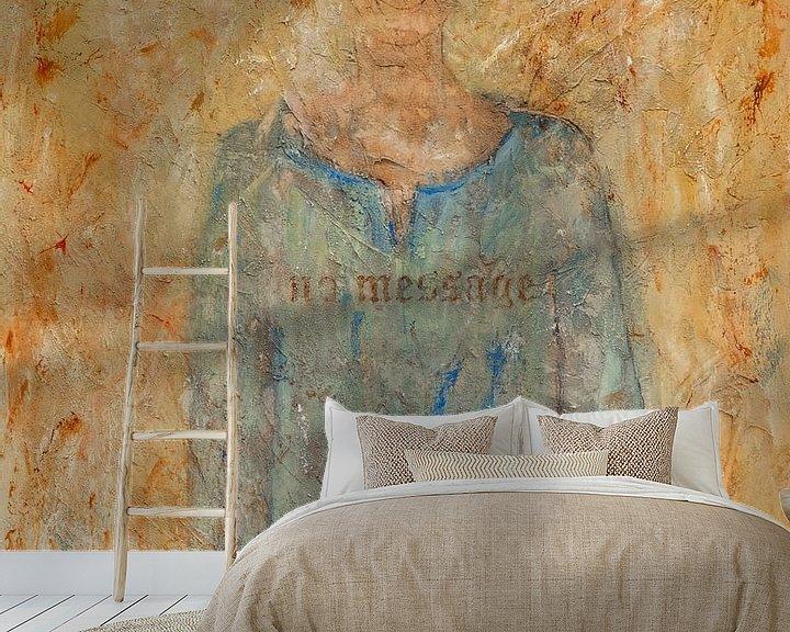 Sfeerimpressie behang: No Message van Els Hattink