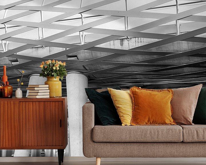 Sfeerimpressie behang: Architectonische brug van Mark Bolijn