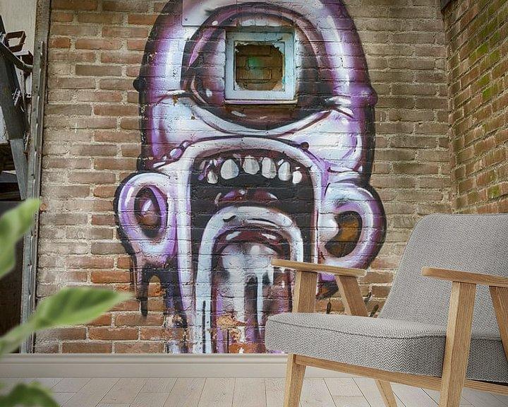 Sfeerimpressie behang: Stadsgezicht van Mark Bolijn