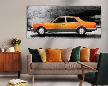 Mercedes-Benz Classe S W 126 Art Car en orange sur aRi F. Huber