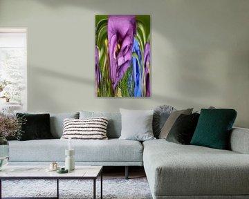 Verrückte Blumen (2) von Wim van Berlo