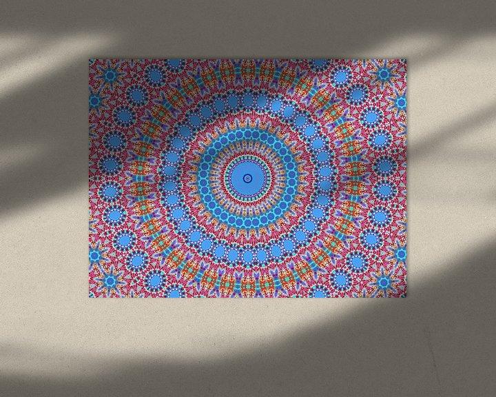 Sfeerimpressie: Retro Rozetta 3 (Retro patronen in blauw) van Caroline Lichthart