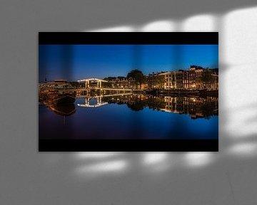 Amstel spiegel blauwe uur 2 van Jeroen de Jongh