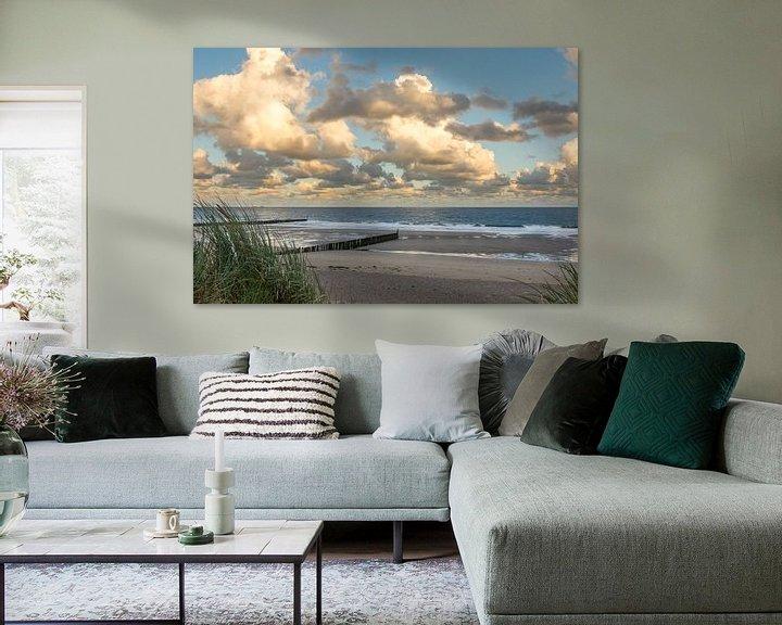Beispiel: Strand von Cadzand-Bad bei Sonnenaufgang von John van de Gazelle