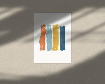Peinture minimaliste sur MDRN HOME