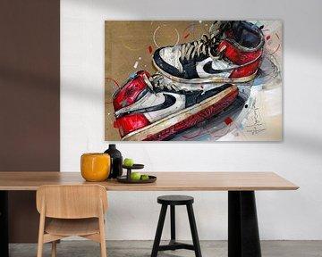 Nike air Jordan 1 Chicago 1984 peinture sur Jos Hoppenbrouwers
