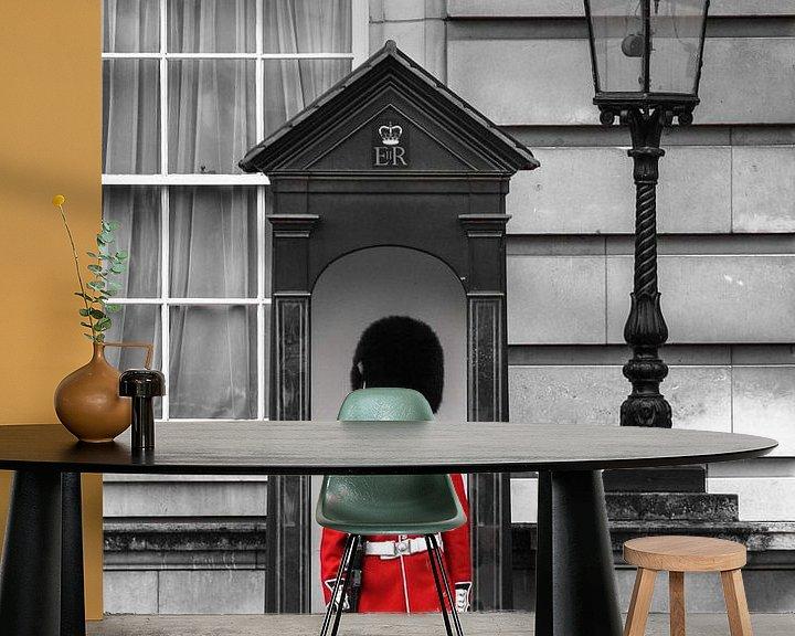 Sfeerimpressie behang: London - the guard van BTF Fotografie