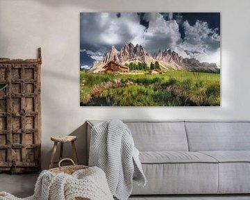 Alpenhut op de Geisler pieken in de Dolomieten van Voss Fine Art Fotografie