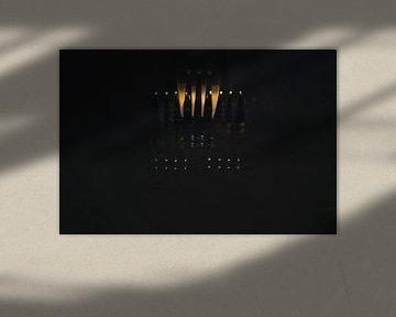 Compositie van vorken - macro van Angelique van Kreij
