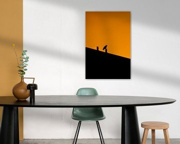 Silhouet, vogel van Nynke Altenburg