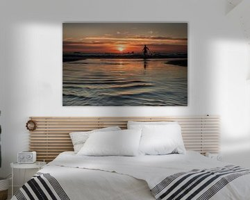 Zonsondergang aan zee van Hans Hoekstra