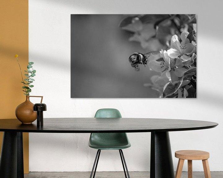 Beispiel: Fliegende Hummel aus nächster Nähe von E Blaas