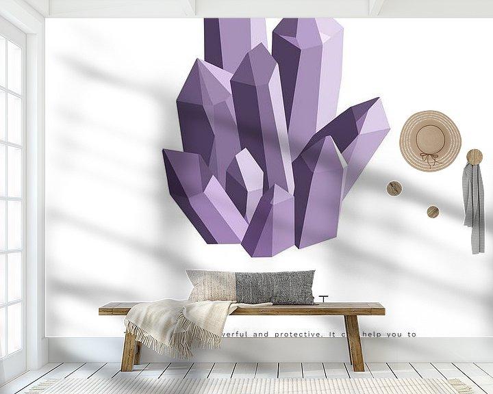 Beispiel fototapete: Amethyst-Kristallstein   Amethyst-Kristallstein von Puck Mols